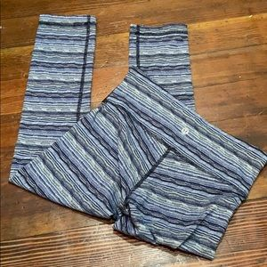 Lululemon Patterned Wunder Under Pant Mid/Low Rise